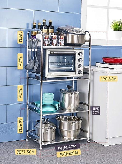 Estante de cocina de acero inoxidable 304 para microondas, horno ...