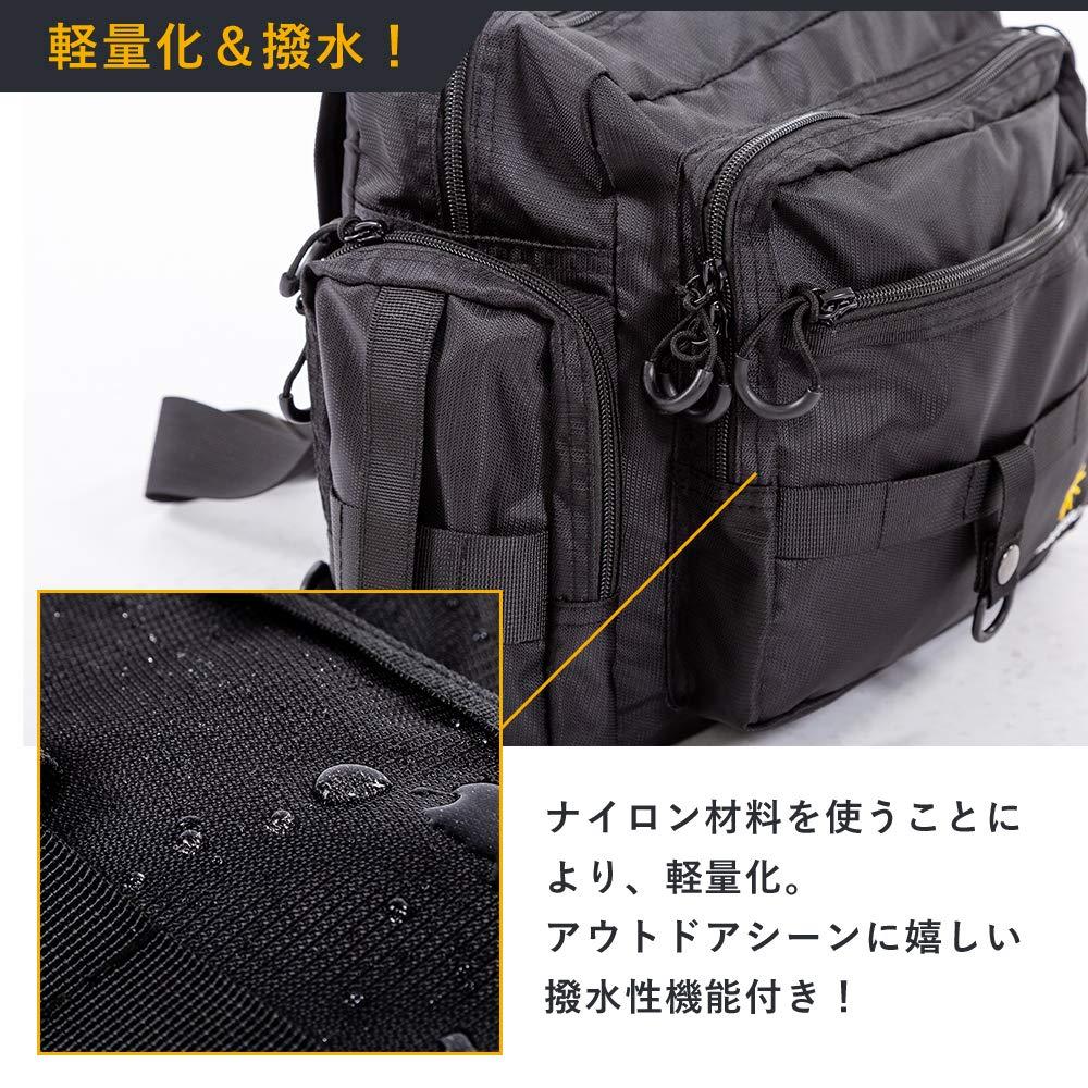 b39ac4c45d4 Amazon | MARITSU フィッシング タックルバッグ ショルダーバッグ ロッドホルダー付き 多機能 大容量 (ブラック 腰ベルト付) |  MARITSU | タックルバッグ