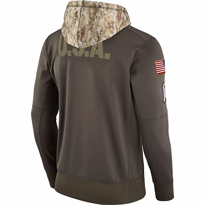 the best attitude 0cfa5 0d7ae Nike 2017 Chicago Bears NFL Salute to Service Hoodie Pullover (X- Large)  Olive