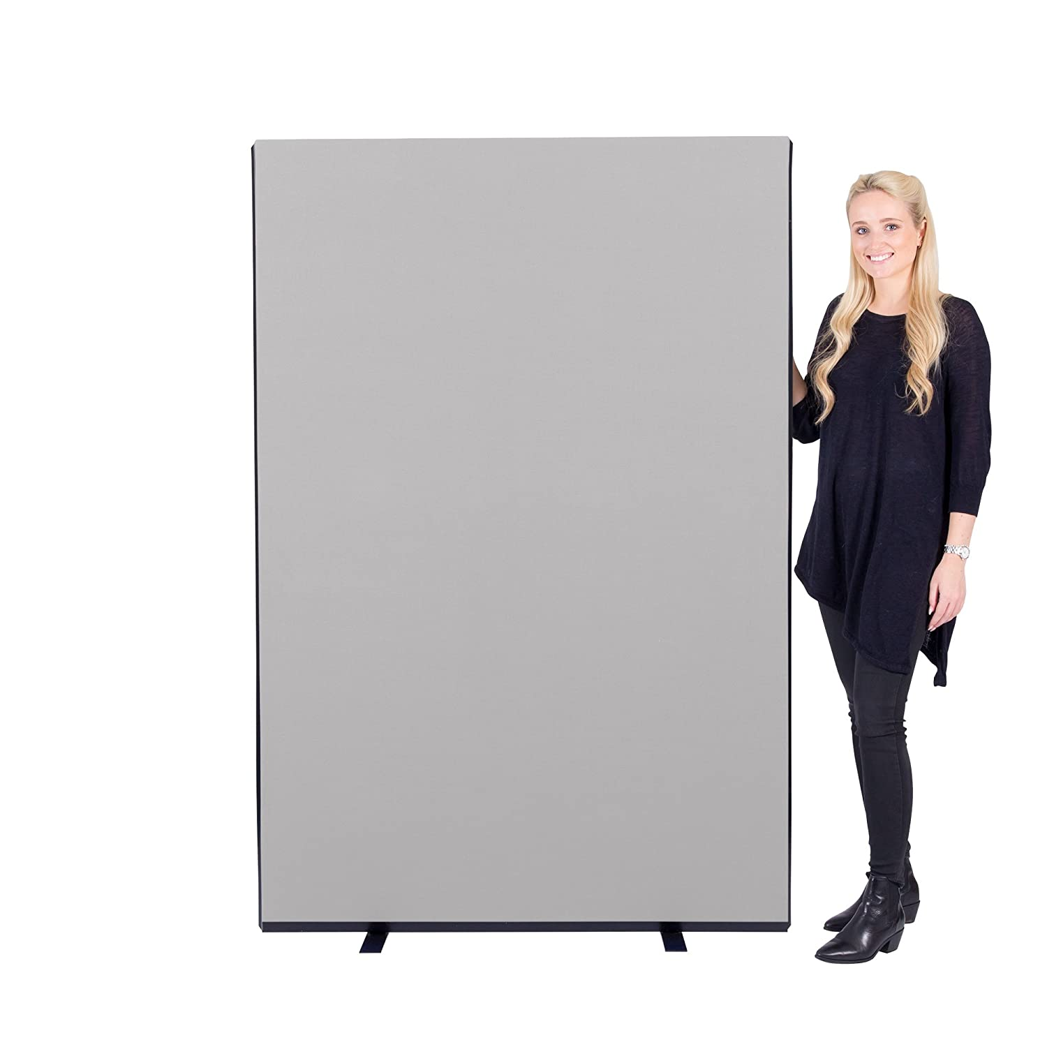 Panelwarehouse 1200mm Wide Nyloop Office Partition Screen - 3 Heights & 7 Colours (Black, 1200mm W x 1200mm H)