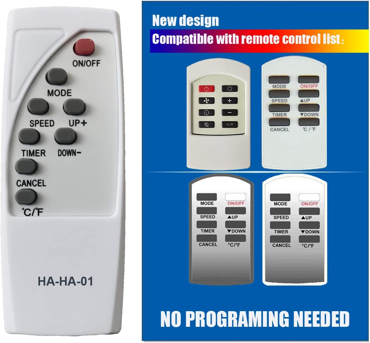 HA-HA-01 Replacement for Haier Commercial Cool Air Conditioner Remote Control AC-5620-54 AC-5620-55 AC-5620-45 AC-5620-42 AC-5620-44 AC-5620-44-NP CPRB07XC7 HPRB07XC7 HPRB09XC7 CPRB09XC7 CPRB07XC7-B