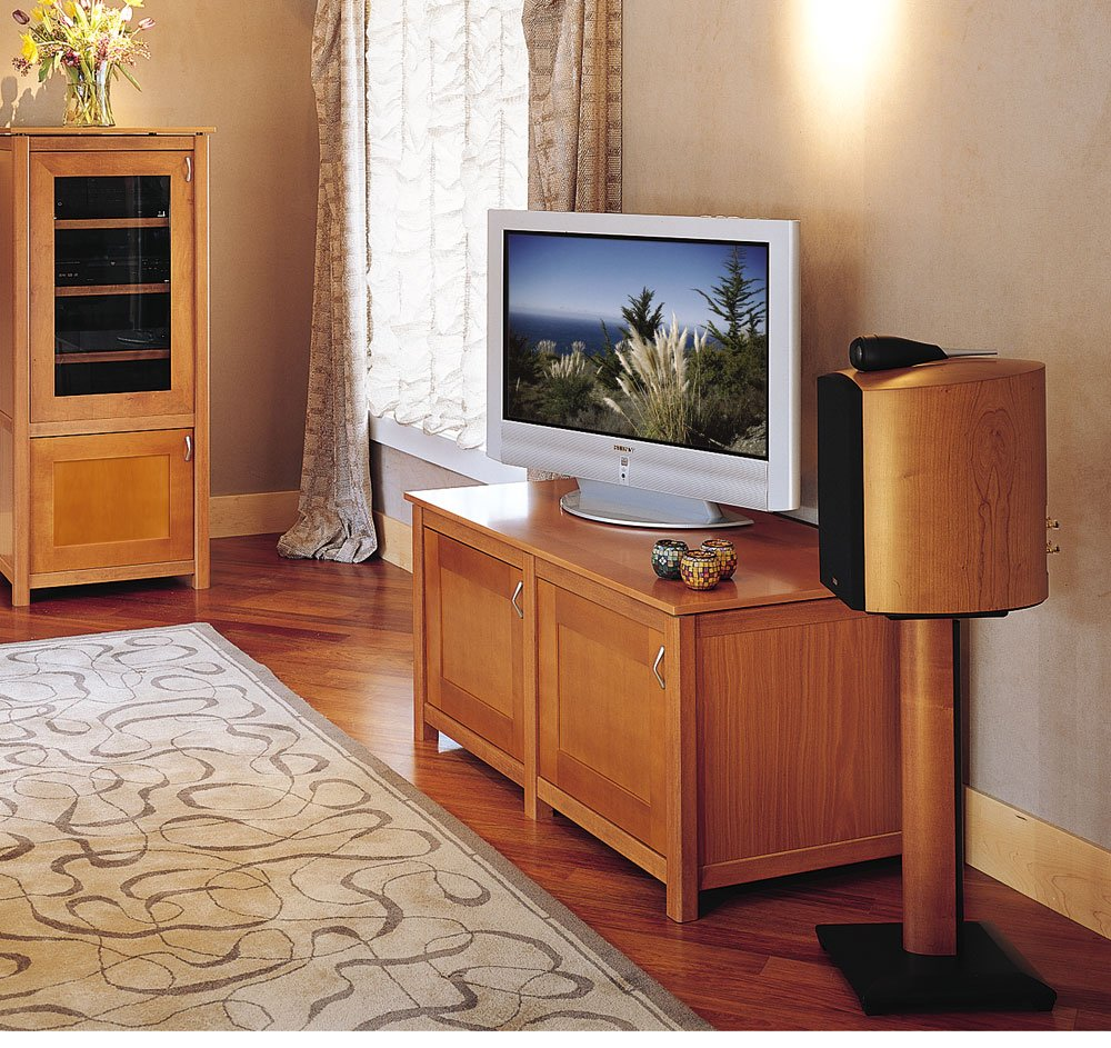 Amazon Sanus NF24B Natural Foundations Series 24 Tall Medium Bookshelf Speaker Stands