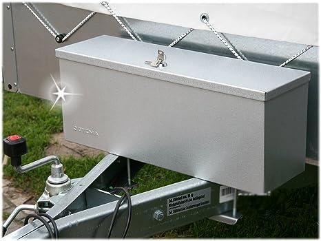 Stema - Caja metálica de Almacenamiento para Enganche de Remolque: Amazon.es: Coche y moto