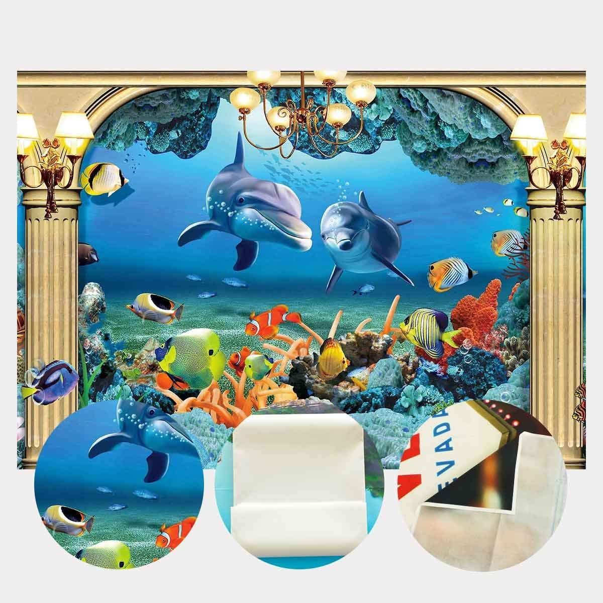 SZZWY 7x5ft Underwater World Backdrop Tropical Fish Coral Sea Ocean World Photography Backdrop Photo Photography Background Props Studio Indoor Decorations LYP160