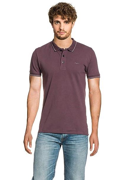 REPLAY MenŽs Polo Shirt Plum, tamaño:S: Amazon.es: Ropa y accesorios