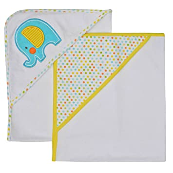 Amazon.com : Neat Solutions Applique Print Interlock Knit Terry Hooded Towel Set, Elephant, 2-Count : Hooded Baby Bath Towels : Baby