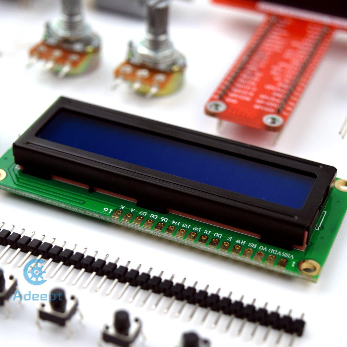 Adeept Super Starter Kit For Raspberry Pi 3 2 Model B Lcd1602 Wiringpi Servo