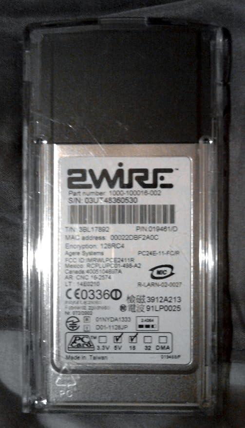 2WIRE 802.11G WIFI PC CARD WIRELESS ADAPTER WINDOWS 7 X64 TREIBER