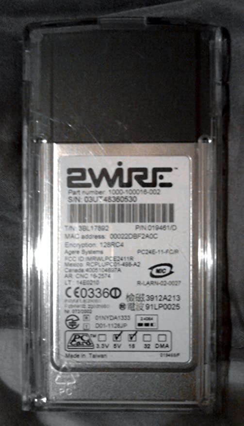2WIRE 802.11G WIFI PC CARD WIRELESS ADAPTER WINDOWS 10 DRIVER