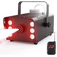 Fog Machine, Theefun 500W 6 LED Lights Smoke Machine with 2500CFM Fog, 7 Colors & Strobe Effect Hallowen Fog Machine…