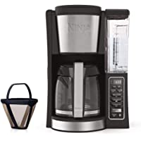 Ninja 12-Cup Programmable Coffee Maker with Classic and Rich Brews, 60 oz. Water Reservoir, and Thermal Flavor Extraction (CE201) (Black/Stainless Steel) + $10 Kohls Cash