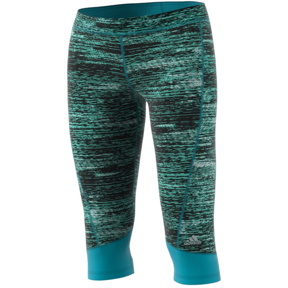 adidas Women's Techfit Capris, Energy Blue Heather, X-Small by adidas (Image #1)