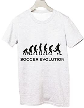 "Camiseta Humor ""Soccer Evolution, evolución Fútbol – Todas las Tallas Hombre Camiseta"