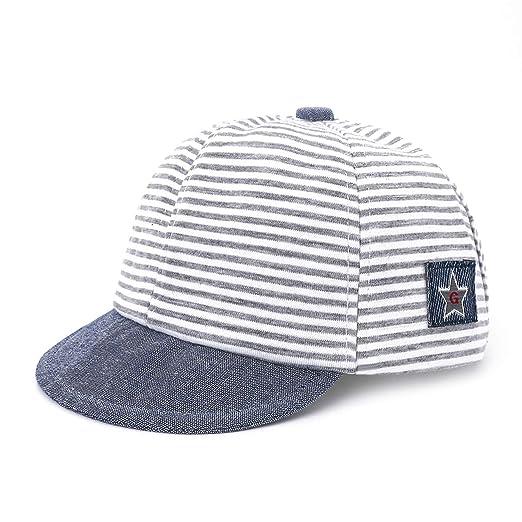 e092b666d2995b Amazon.com: 2019 Kids Baseball Cap Fashion Hat for Children Mesh Hat Summer  Cap for Boys Striped Casual Hats for Girls Cap: Clothing