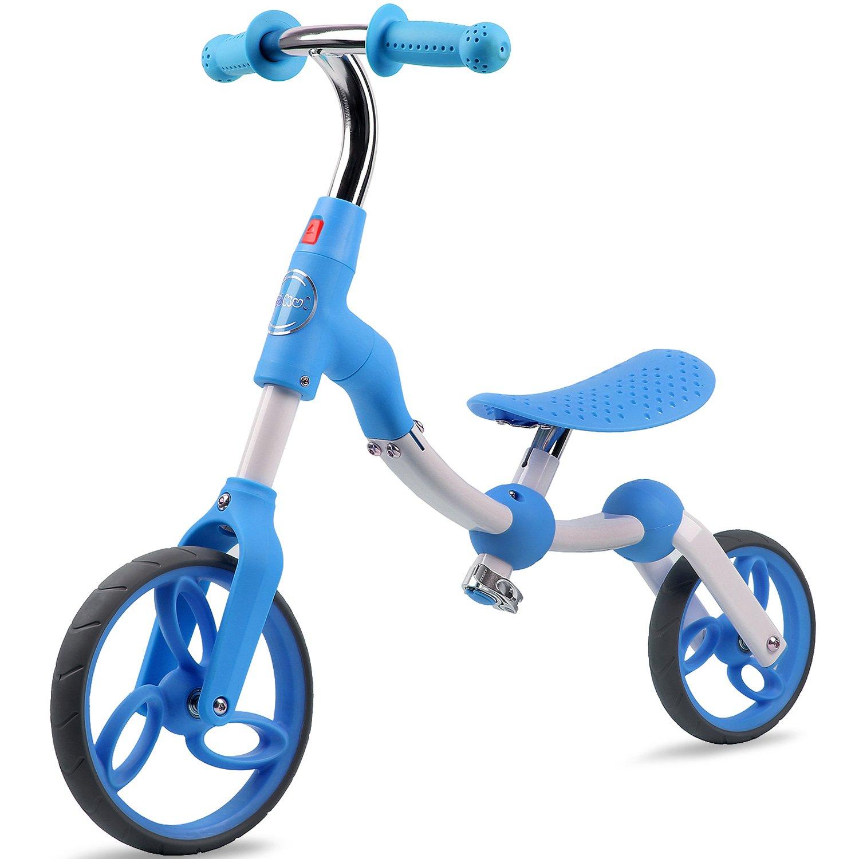 Vokul Gh06 Bicicleta sin Pedales de Metal con sillín Regulable para niños DE 2-5 Anos (Azul)