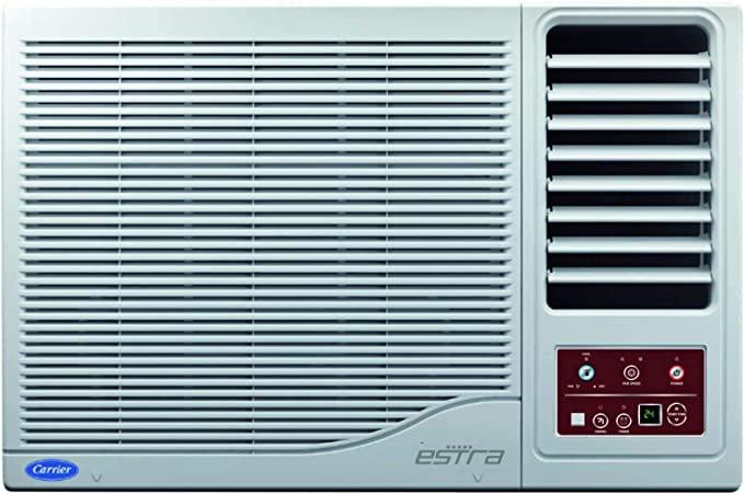 Carrier 1 Ton 3 Star Window AC  Copper, 12K Estra R22, CAW12ES3N8F1, White  Air Conditioners