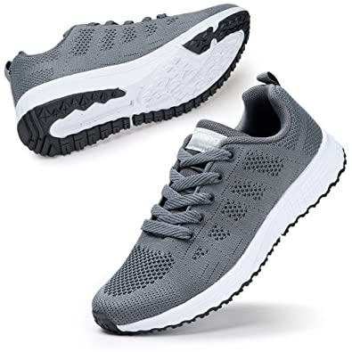 c44ae87627f8b STQ Women Walking Shoes Casual Lace Up Shoes Trainers Running Sneakers