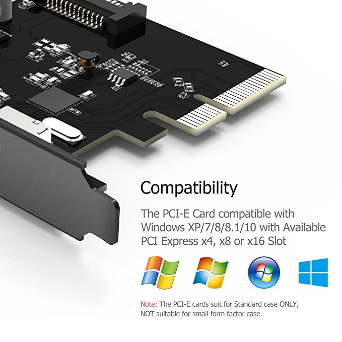 Buy Yottamaster Superspeed 2 Ports Usb 3 1 Type A Pci E Motherboard