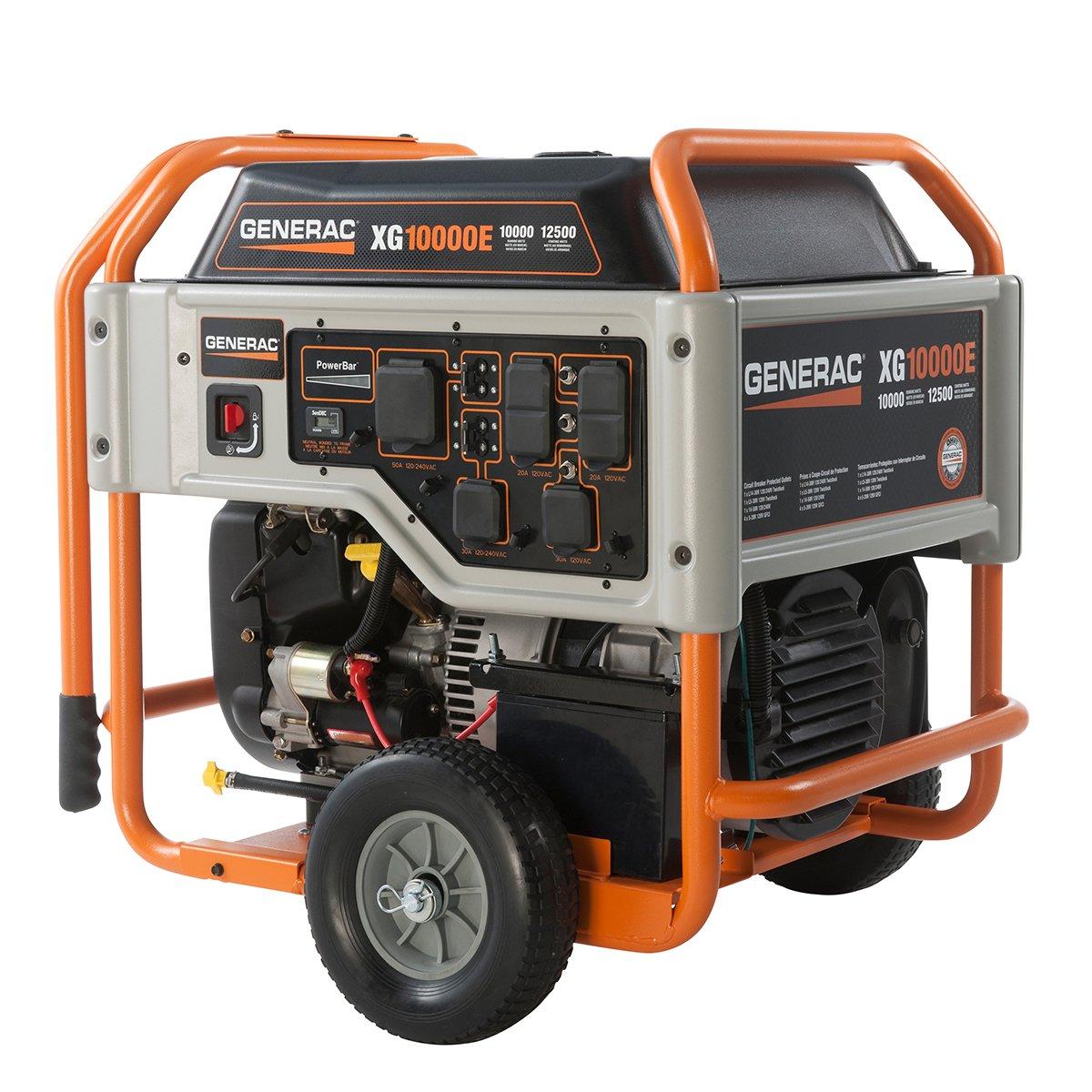Amazon.com : Generac 5802, 10000 Running Watts/12500 Starting Watts, Gas  Powered Portable Generator : Garden & Outdoor