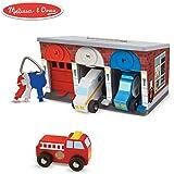 Melissa & Doug Lock & Roll Rescue Truck Garage Classic Toys