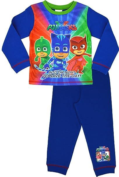 PJ Masks - Pijama Dos Piezas - Manga Larga - para niño Azul 24 Meses