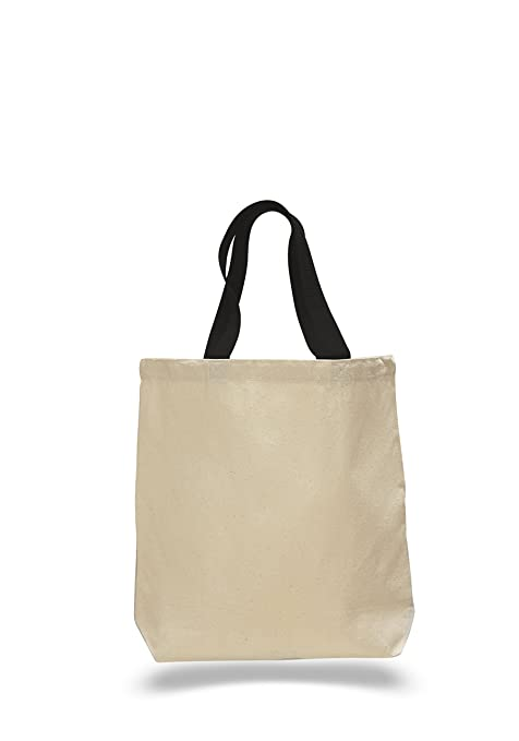 1f08db75a02005 Image Unavailable. Image not available for. Color: PACK OF 6 - Heavy Canvas  Plain Tote Bags with ...