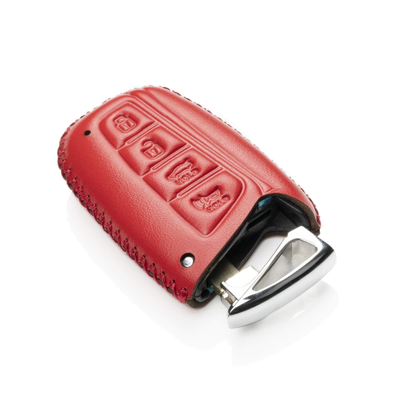 Vitodeco Genuine Leather Keyless Smart Key Fob Case Cover with Key