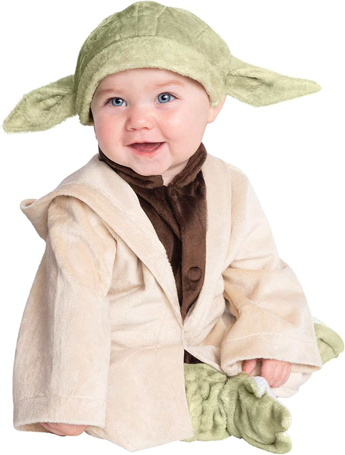 Rubies Baby Star Wars Classic Yoda Deluxe Plush Costume As Shown 2T