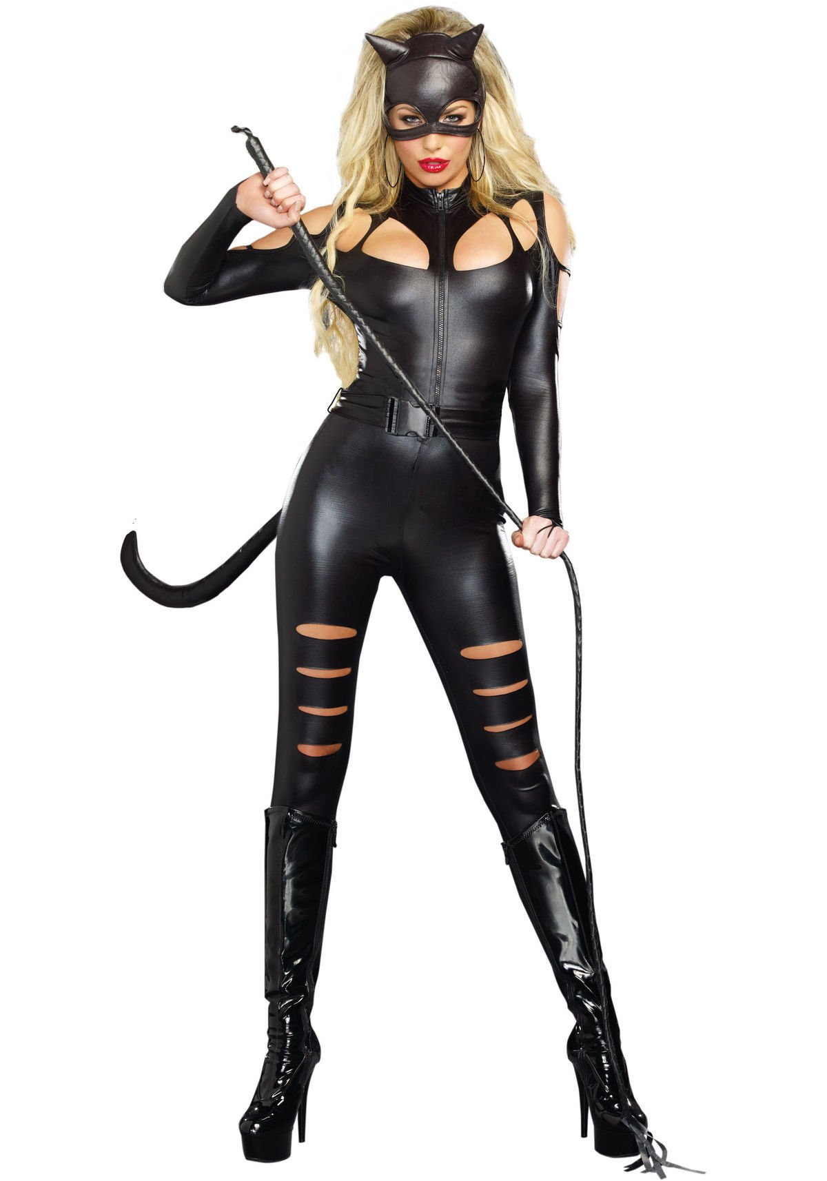 Dreamgirl Women's Catwoman Costume, Black, X-Large