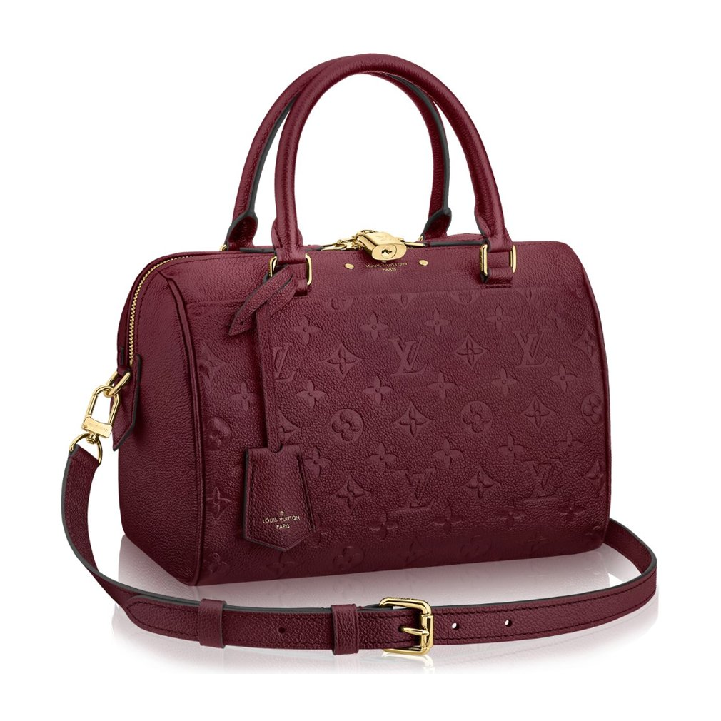 0ec1e0767988 Louis Vuitton Speedy Monogram Empreinte Leather Bandoulière 25 Article   M43262 Raisin Made in France  Handbags  Amazon.com