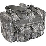 "Mens 15"" Inch Duffel Duffle Molle Tactical Shoulder Bag With Key Ring Carabiner"