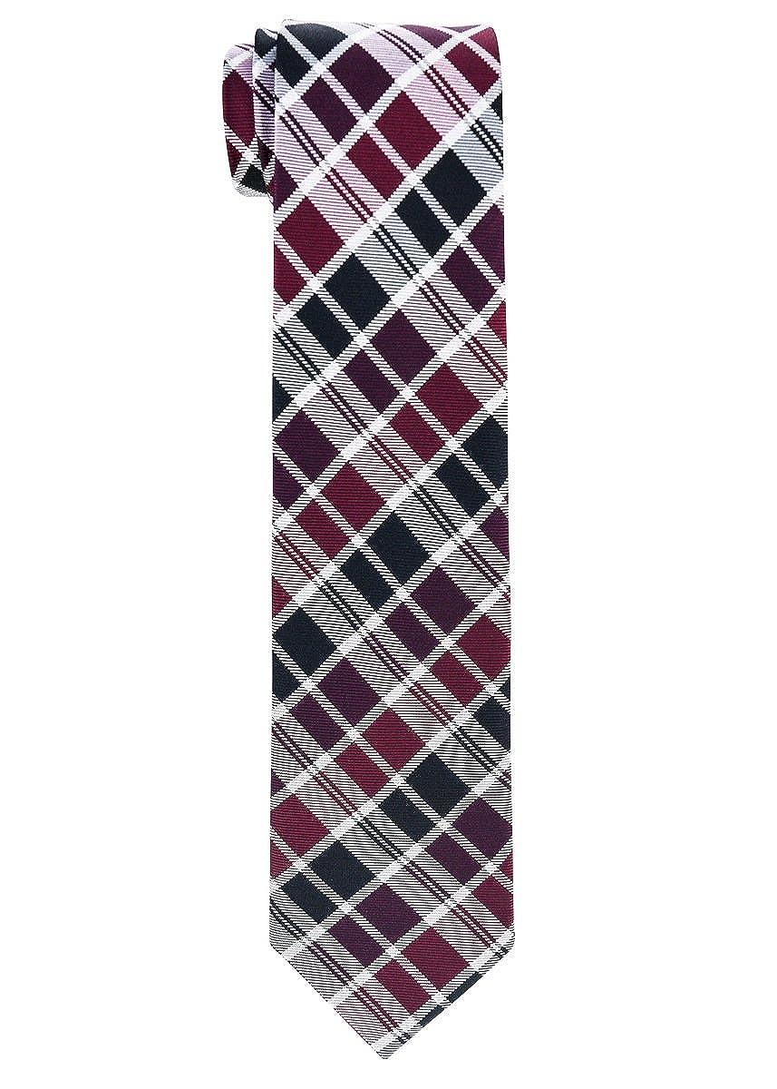 Retreez Modern Tartan Check Styles Woven Boys Tie Various Colors 8-10 years