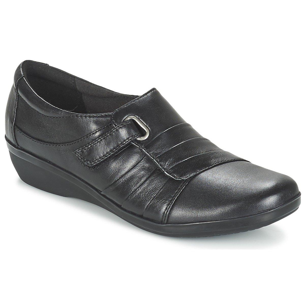 Clarks Everlay Zapatos Casuales De Mujer De Luna 37.5 EU|Black