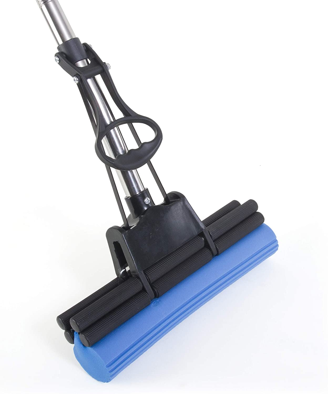 "Kitchen + Home PVA Sponge Mop – Super Absorbent 11"" Quadruple Roller PVA Foam Sponge Mop All Purpose Floor Cleaner"