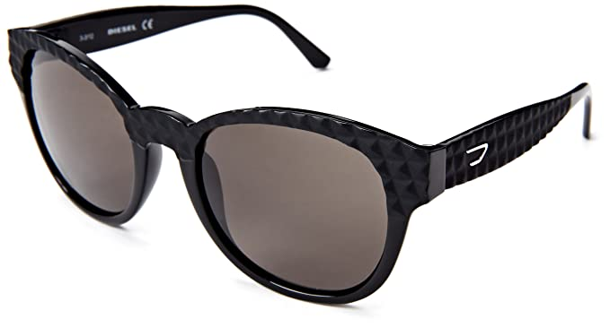 Amazon.com: Diesel dl00455401 N Ronda anteojos de sol, negro ...