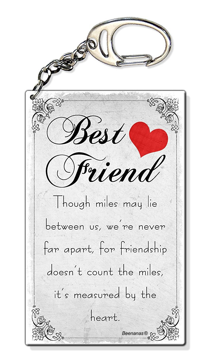 Miles Between Us Best Friend Birthday Present Gift Small Plastic Keyring Keychain Bag Charm Amazoncouk Toys Games
