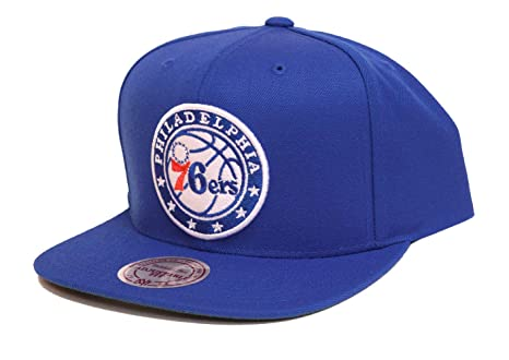 huge discount 41759 ec81d Image Unavailable. Image not available for. Color  Mitchell   Ness  Philadelphia 76ers Wool Solid Adjustable Snapback Hat