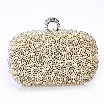 La Bolsa De Asas De Las Mujeres Imitación del Anillo De Perlas del Diamante del Bolso