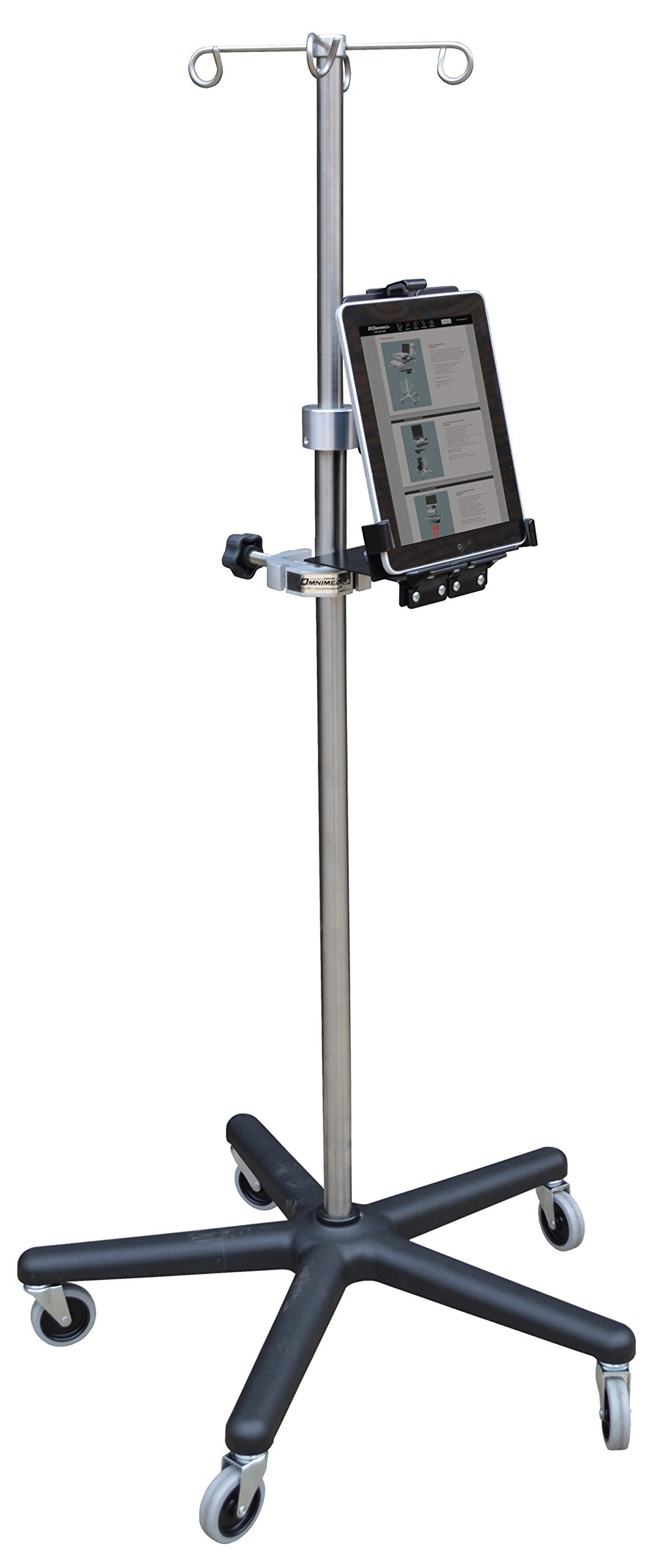 Omnimed  741324 Tablet Holder with Omni Clamp Without IV Pole