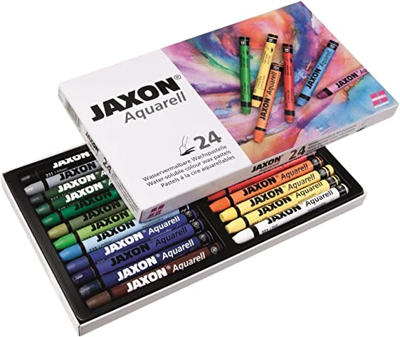Jaxon Lot De 24 Crayons Aquarelle Couleurs Assorties Amazon Fr