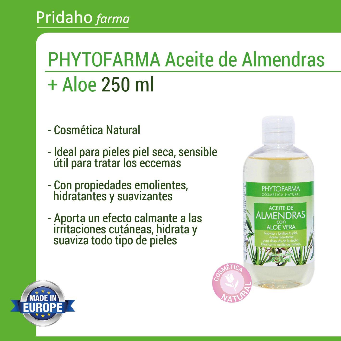 PHYTOFARMA - PHYTOFARMA Aceite de Almendras + Aloe Vera 250 ml: Amazon.es: Belleza
