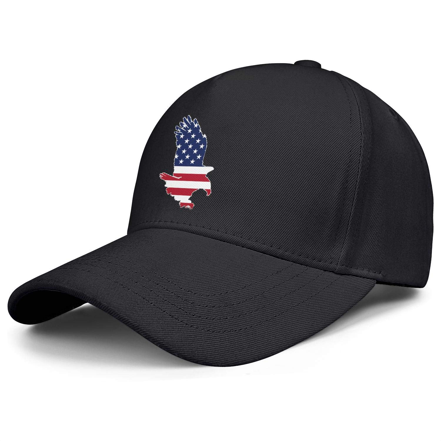 Displaying The Eagle American Flag Unisex Baseball Cap Outdoor Fishing Caps Adjustable Trucker Caps Dad-Hat