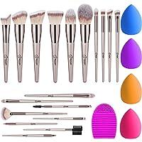 BESTOPE Makeup Brush Set 18 Pcs & 4 Makeup Sponges & 1 Makeup Brush Cleaner, Premium Beauty Blender Sponge Make Up…