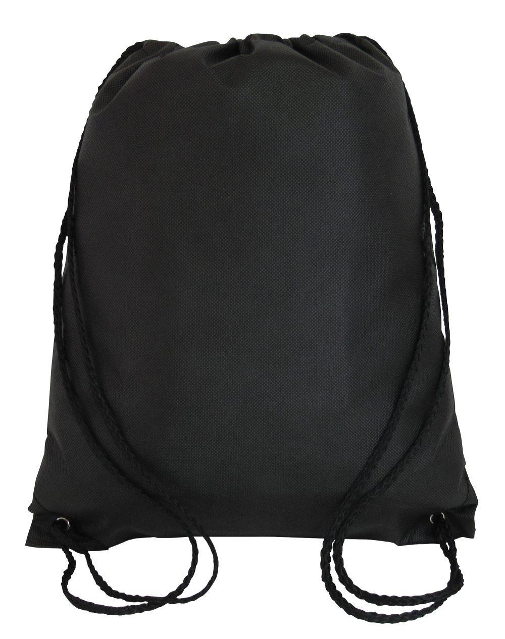 DrawstringバックパックCinchデイパック軽量ジム袋バッグトレーニング、スポーツ、旅行 ブラック B071JMGQYR ブラック|3 ブラック