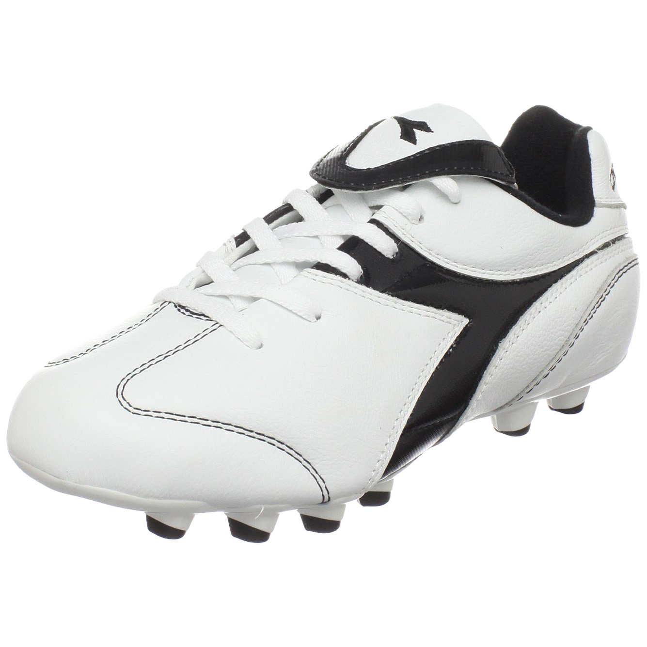 Diadora Brasil Soccer Cleat ( Little Kid / Big Kid ) B003QHZPH2 3.5 M US Big Kid|ホワイト/ブラック ホワイト/ブラック 3.5 M US Big Kid