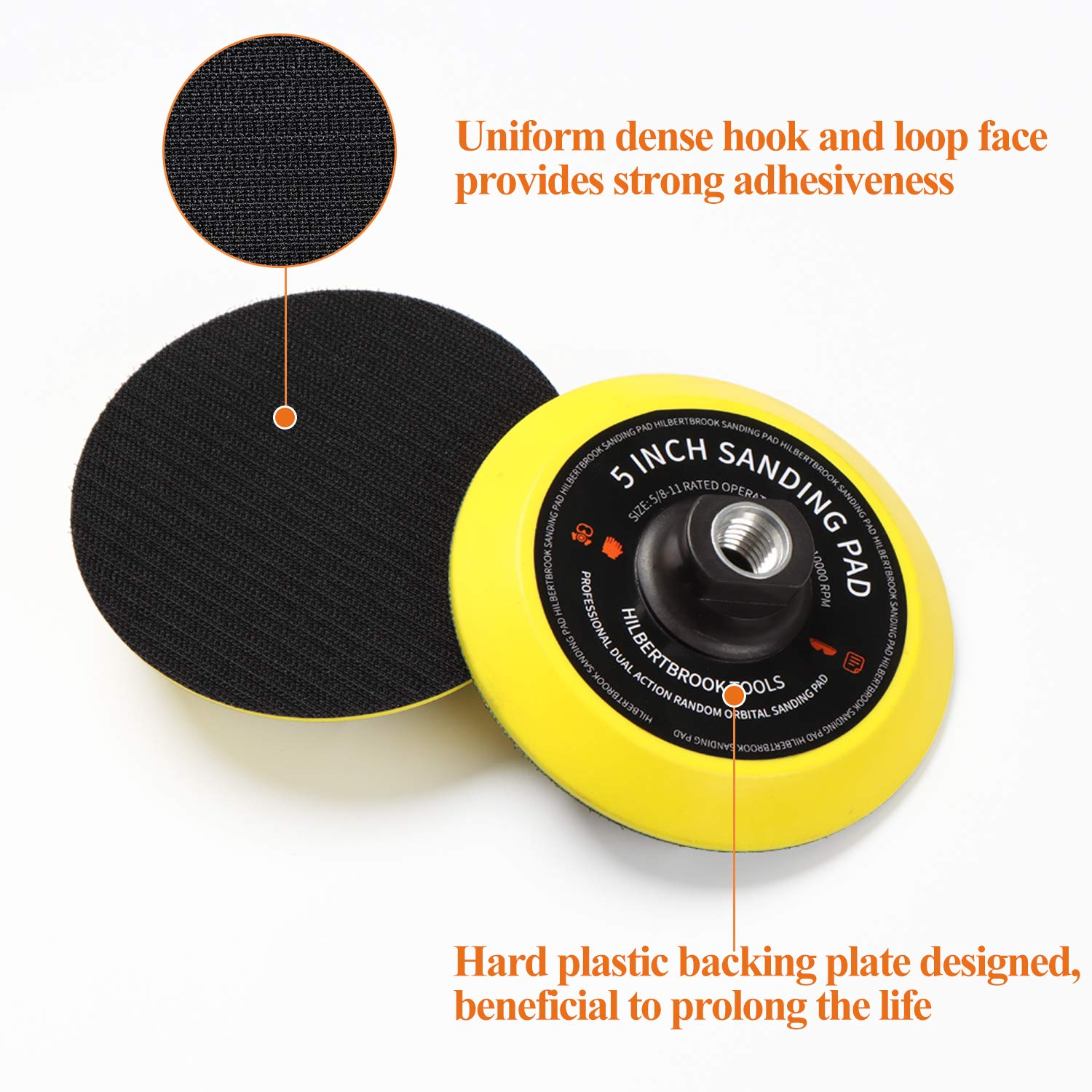 1 Wood Carving Shaping Sanding 5 Inch Hook and Loop Backing Pad Backing Plate with 5//8-11 Threads Sanding Pad for Angle Grinder Carving Polishing