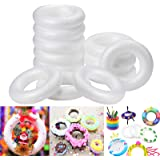 ACTENLY Craft Foam Wreath (12 Pack) Polystyrene Foam Ring for DIY Arts and Crafts, Kids Art Class, Floral Projects…