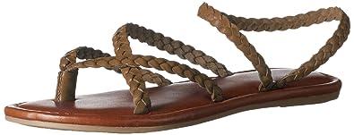 4b61f87585a MIA Women s Braid Flat Sandal Olive 6.5 ...