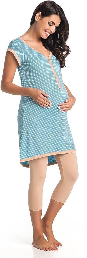 Di Vadini pigiama Elena per allattamento in 100/% cotone e maniche corte