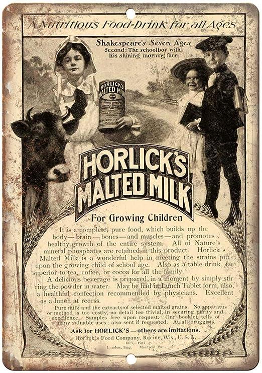 Shunry Horlicks Malted Milk Placa Cartel Vintage Estaño ...